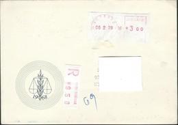 Yugoslavia Belgrade - 1978 R - Letter Via Macedonia Red Post Label - Briefe U. Dokumente