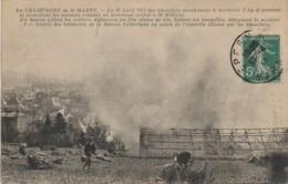 51 AY Aspect Des Bâtiments De La Maison Gerderman Au Cours De L'Incendie Allumé Par Les Emeutiers - Ay En Champagne