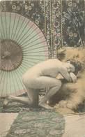 Themes Div-ref EE06- Nu -nus - Nude - Nudes - Femmes - Pose De Femme Nue -ombrelle Japonaise - Japon - Japan - - Nus Adultes (< 1960)