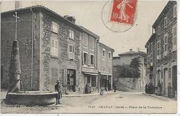 38, Isère, CHANAS, Place De La Fontaine, Scan Recto Verso - Chanas