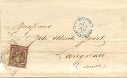 """LSC Espagne De Madrid 1877 Cachet """"Espagne Par Saint-Jean De Luz 4""""  Timbre  Alphonse XII 25 Pesetas - Poststempel (Briefe)"""