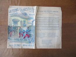 LA FERME DES FRANCS-TIREURS ROMANCE PATRIOTIQUE PAROLES DE LUCIEN COLONGE MUSIQUE DE ALFRED VIEILLOT - Noten & Partituren