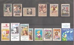 """Petit Lot De 15 Vignettes """" Antituberculeux """" De 1929 à 1979. Neufs / Oblitérés / Sans Gomme. - Erinnophilie"""