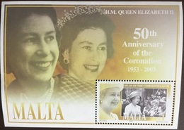 Malta 2003 Coronation Anniversary Minisheet MNH - Malta