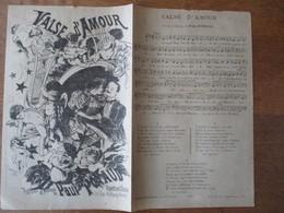 VALSE D'AMOUR  PAROLES ET MUSIQUE DE PAUL POYAUD - Scores & Partitions