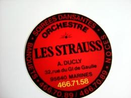 AUTOCOLLANT ORCHESTRE LES STRAUSS 95 MARINES - Altri