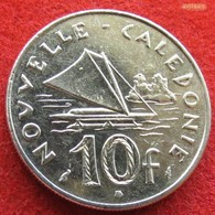New Caledonia 10 Francs 1986 KM# 11 Nouvelle Caledonie - Nueva Caledonia