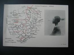 Carte Géographique   Colonies Françaises Congo   édition A. Meunier  (carte Décollée) - Other