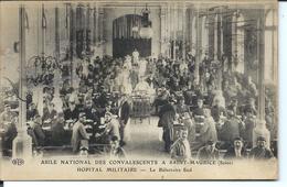 1917 - SAINT-MAURICE - ASILE - HÔPITAL MILITAIRE - Réfectoire Sud - Arthur POULET 347e Inf. - Le Raincy