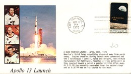 """Apollo 13 Launch - Cape Canaveral 1970 - """"all Was Going Well"""" - Storia Postale"""