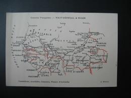 Carte  Géographique  Colonies Françaises Haut-Sénégal & Niger édition A. Meunier  (carte Décollée) - Sénégal
