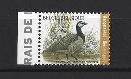 Belgique: Nouveauté 2020 (Pour Recommandé) Bernache Nonnette ** - 1985-.. Oiseaux (Buzin)