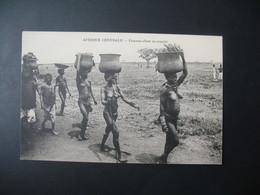 Carte  Afrique Centrale - Femme Allant Au Marché - Other