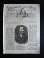 Leonardo Da Vinci Anno III 1880  Numero 5 Acquaderni Leone XIII - Libri, Riviste, Fumetti