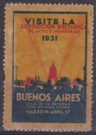 BUENOS AIRES, VISITE LA EXPOSICION BRITANICA DE ARTES E INDUSTRIAS. ARGENTINA 1931. RARA VIÑETA VIGNETTE -LILHU - Affrancature Meccaniche/Frama