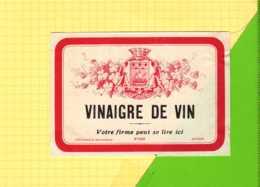 ETIQUETTE  Vinaigre De Vin - Etiquettes