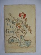 JEUNE  FEMME  DRAPEE       .....  PALAIS  DE  LA  FEMME         DESSIN           TTB - Illustrateurs & Photographes