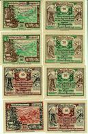 GROSSARL B. St. Johann 8 (acht) Notgeldscheine 1920 Druckfrisch - Autriche