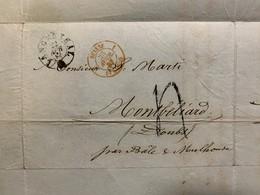 60328 - Lettre De Langenthal 22.04.1857 Pour Montbeliard Facture De Muralt - 1854-1862 Helvetia (Imperforates)