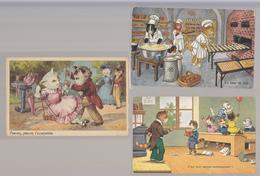 Theme Chats Humanises Lot De 6 Cartes Variees Et Scannees - Animaux Habillés