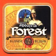 Sous Bock - Coaster Bière Abbaye De Forest Brasserie De Silly En Belgique - Religieuse - Sotto-boccale