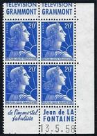 France - Thématique Marianne De Muller - N° 1011B ** - Timbre Pub - TTB - GRAMMONT - COIN DATÉ - Publicités