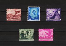 1950 - Centenaire Du Poete EMINESCU Mi No 1196/1200 Et Yv No 1090/1094 MNH - 1948-.... Republiken