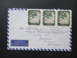 Iran 1964 Air Mail / Luftpostbrief Teheran Nach Melbourne Australien Interessante Destination! - Iran