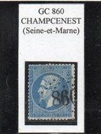Seine-et-Marne - N° 22 Obl GC 860 Champcenest - 1862 Napoléon III