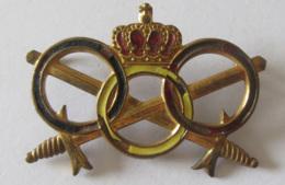 Belgique - Insigne Militaire Armée Belge - Moniteur Sportif / Brevet Test D'aptitudes Physiques - Métal Et émail - Insignes & Rubans
