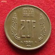 Luxembourg 20 Francs 1981 KM# 58  Luxemburgo - Luxemburgo
