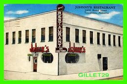 TUSCALOOSA, AL - JOHNNY'S RESTAURANT - TRAVEL IN 1958 - E. C. KROPP CO - - Tuscaloosa