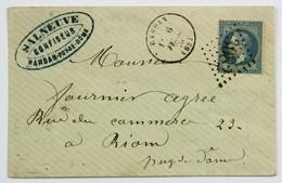 Lettre Fevrier 1870 Randan, Puy De Dome --> Riom, Affr. 20c Type Napoleon, Losange GC 3082 - 1849-1876: Classic Period