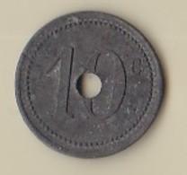 2 X 10 CENTIMES - P(risonnier) G(uerre) SAINT-NAZAIRE - Monétaires / De Nécessité