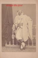 PHOTO ANCIENNE  PORTIER  ALGER  ALGÉRIE CAÏD TENUE ORIENTALE - Oud (voor 1900)