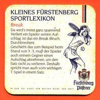 Sous Bock Ancien - Coaster Bière Furstenberg Sportlexikon Bière Brasserie En Allemagne - Tennis - Sotto-boccale