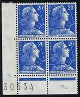 France - Thématique Marianne De Muller - N° 1011B ** - TTB - Variété F Incomplet Et F Absent En Bas A Doite Etc ... - Variedades: 1950-59Nuevos