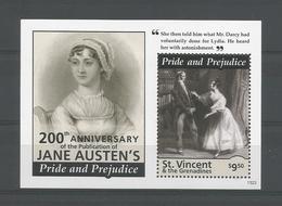 St Vincent 2013 Jane Austen S/S 1 Y.T. BF 693 ** - St.Vincent (1979-...)