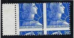 France - Thématique Marianne De Muller - N° 1011B ** - TTB - Variété -> Piquage à Cheval Marqué - Variedades: 1950-59Nuevos
