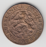@Y@    Nederlandse Antillen   2 1/2  Cent  1965 ( 4619 ) - Antilles Neérlandaises