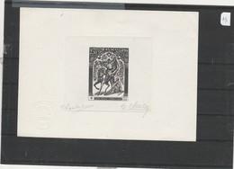 MONACO  - CROIX ROUGE  20è ANNIVERSAIRE  - Epreuve D'ARTISTE  SIGNEE  .P. LAMBERT  -  C. HALLEY - Epreuves D'artistes