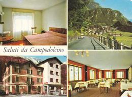 SALUTI DA CAMPODOLCINO - SONDRIO - 4 VEDUTE - ALBERGO PIZZO STELLA - INSEGNA PUBBLICITARIA BIRRA WUHRER - 1971 - Sondrio