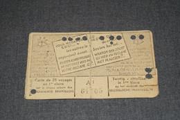 Ancienne Carte De Transport En Tramway,1 Er Classe Daté Du 01/1945 ,original,collection,11,5 Cm./7 Cm. - Chemin De Fer