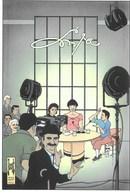 CARTE POSTALE TINTIN  CHAPLIN & Cie - Art De La Table