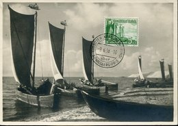50992  Germany Reich, Maximum 9.6.1938 Kurische Nehrung , Fishing Boats,  Bateaux De Peche (see 2 Scan) - Briefe U. Dokumente