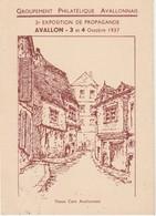 AVALLON  89 - 2è EXPOSITION PHILATELIQUE   3 Et 4 OCT. 1937 - Marcophilie (Lettres)
