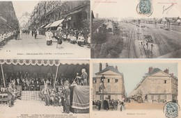 9 CPA:ORLÉANS (45) BÉTAIL ABATTOIR,FÊTES DE JEANNE D'ARC,DÉFILÉ ENFANTS,PROCESSION CLERGÉ,MUSIQUE,TRAIN GARE - Orleans