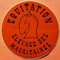 AUTOCOLLANT STICKER - EQUITATION ELEVAGE DES MAURITAINES - HIPPISME - Stickers
