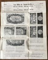 RARE - TABLEAU De SIGNALEMENT FAUX BILLETS 500 Francs Ou 100 Belgas (ca 1930) - [ 7] Fouten