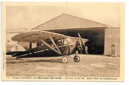 Cpa...camp D'aviation De Chateau Bougon... Avion POTEZ 36...aéro Club De L'atlantique ...animée... - France